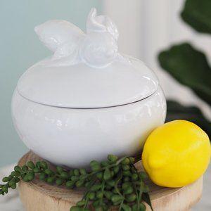 Lemon Lid Porcelain Bowl